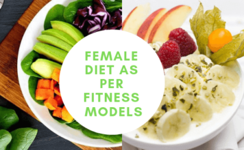 female diet as per fitness models