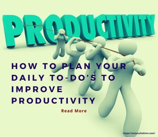 Improve your productivity
