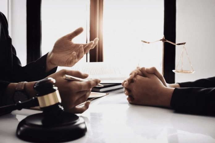 bankruptcy attorney client discussing